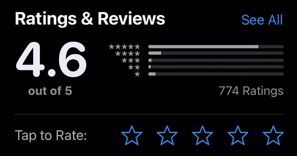 change the Ratings & Reviews System in the App Store